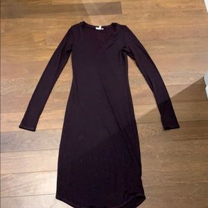 Wilfred free black and purple long dress